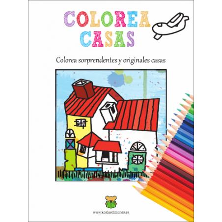 colorea casas