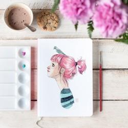 Cuaderno Esther Gili Pájaros en la cabeza